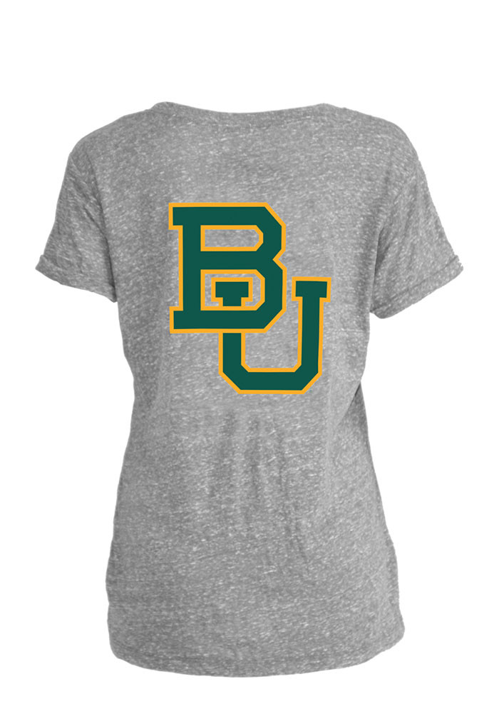 Baylor Bears Womens Grey Bandy Short Sleeve Crew T-Shirt - Image 2