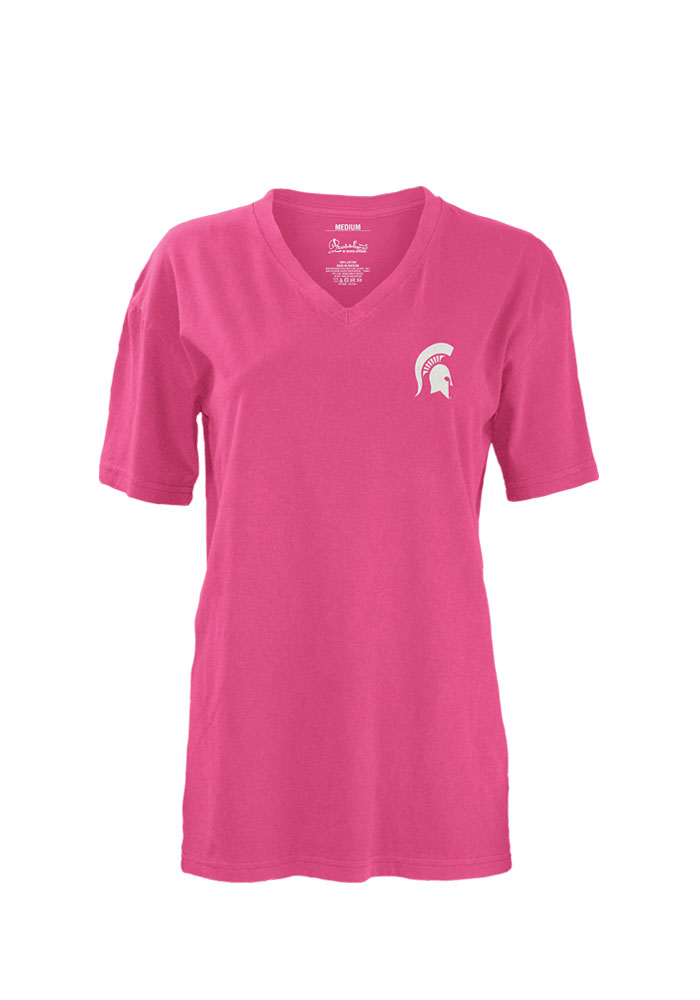 Michigan State Spartans Womens Pink Bow Anchor Unisex Tee