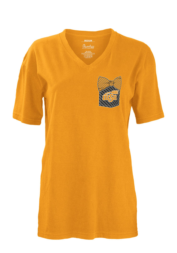 Wichita State Shockers Womens Gold Buffy Short Sleeve Unisex Tee - Image 1
