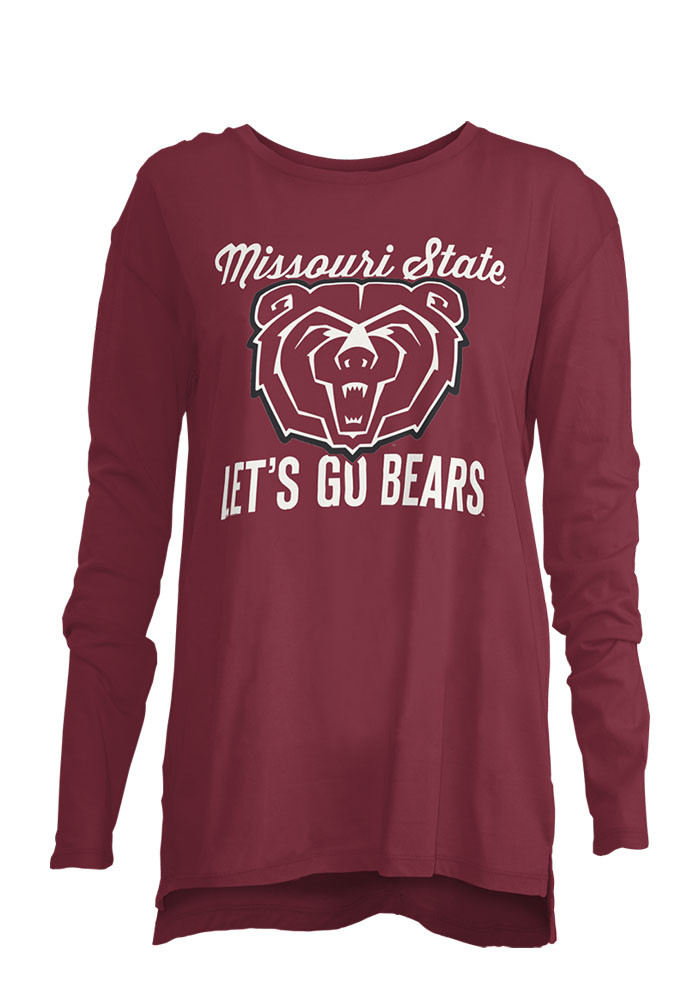 Missouri State Bears Womens Maroon Noelle Long Sleeve Crew T-Shirt - Image 1