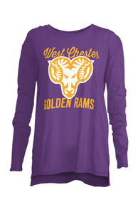 West Chester Golden Rams Womens Noelle Purple T-Shirt