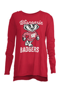 Wisconsin Badgers Womens Noelle Red T-Shirt