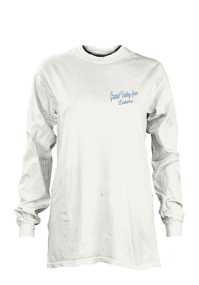 Grand Valley State Lakers Womens White Plato LS Tee - Image 1