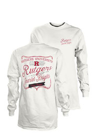 Rutgers Scarlet Knights Womens Plato White LS Tee