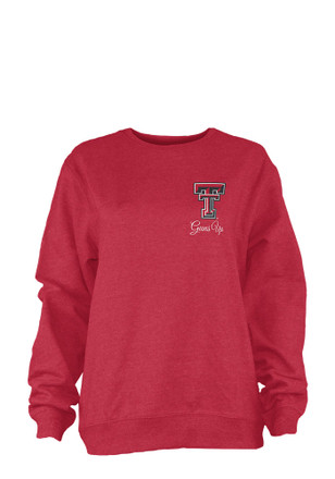 Texas Tech Womens Heptagon Chevron Red LS Tee