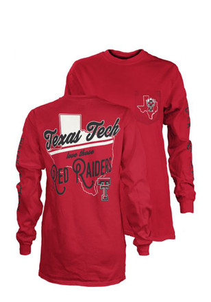 Texas Tech Womens Flynn Red LS Tee