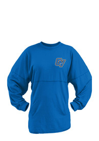 Grand Valley State Lakers Womens Aztec Western Blue LS Tee