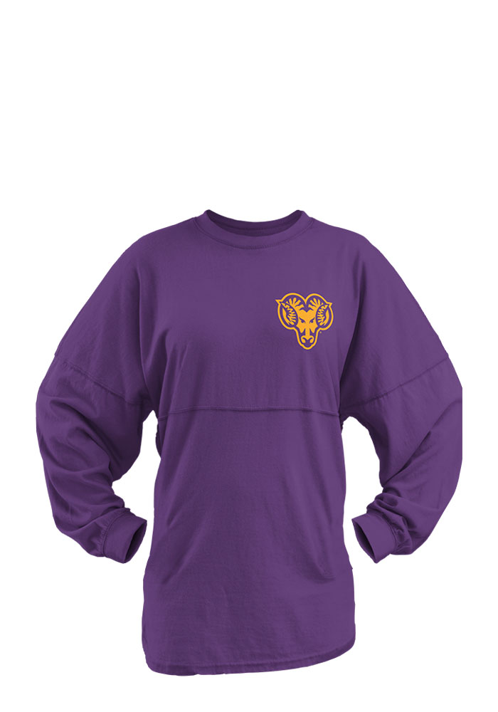West Chester Golden Rams Womens Purple Aztec Western LS Tee, Purple, 100% COTTON, Size S
