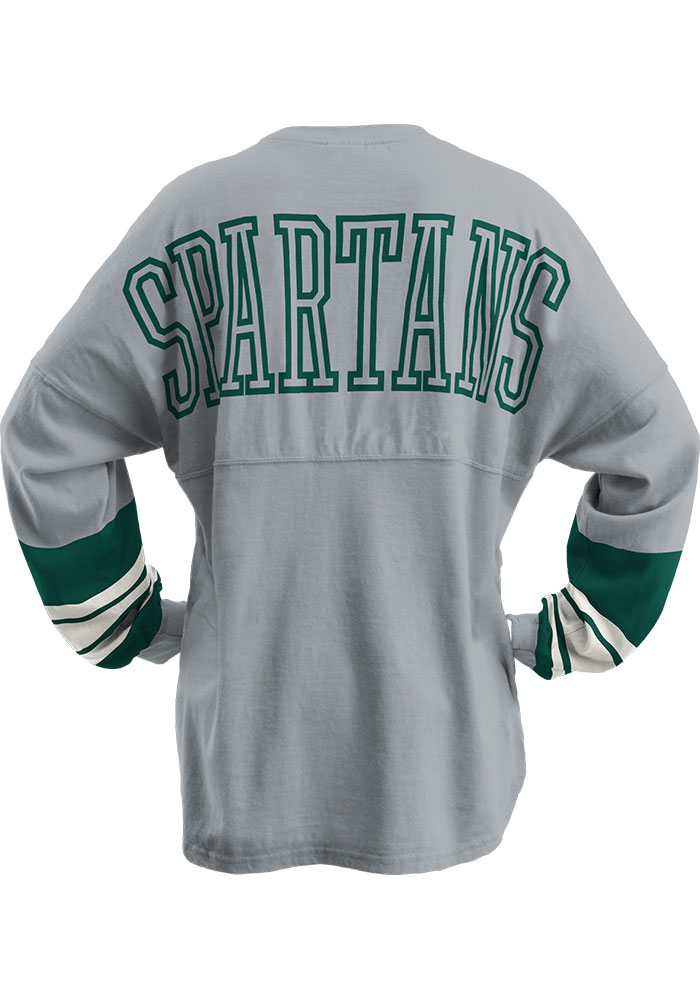 Michigan State Spartans Womens Grey Dasher LS Tee - Image 1