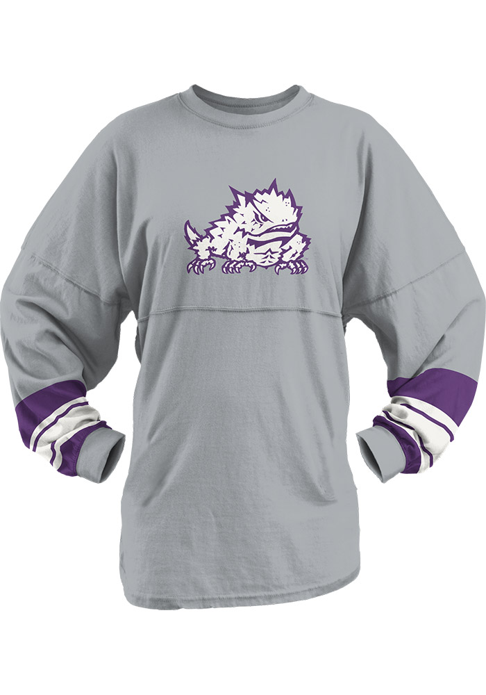 TCU Horned Frogs Womens Grey Dasher LS Tee 22641151