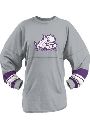 Horned Frogs Womens Dasher Grey LS Tee