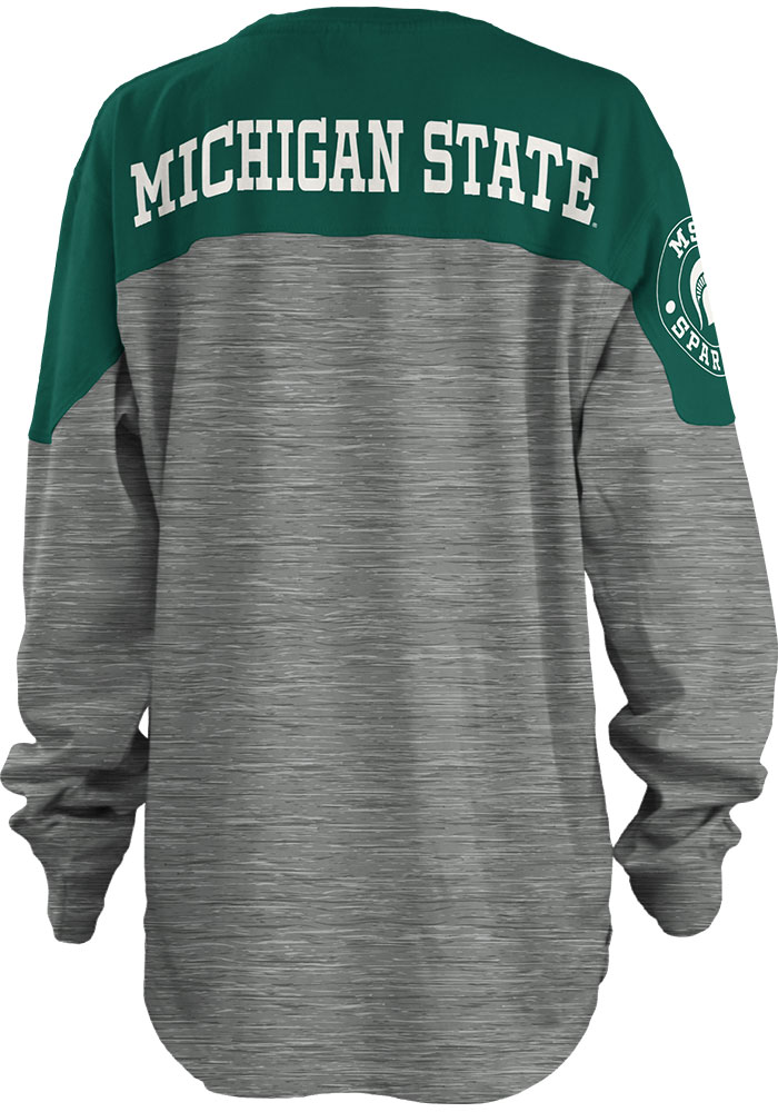 Michigan State Spartans Womens Green Cannon LS Tee - Image 1