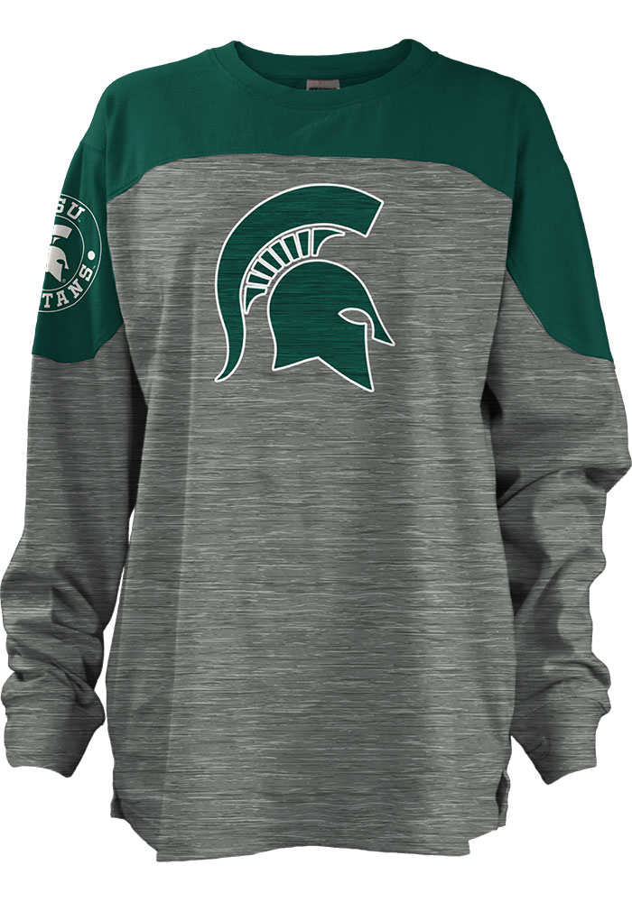 Michigan State Spartans Womens Green Cannon LS Tee - Image 2