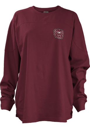 MO State Womens Fight Song Maroon LS Tee