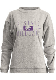 K-State Wildcats Womens Comfy Terry Oatmeal Crew Sweatshirt