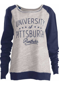 Pitt Panthers Womens Ives Crew Sweatshirt - Oatmeal