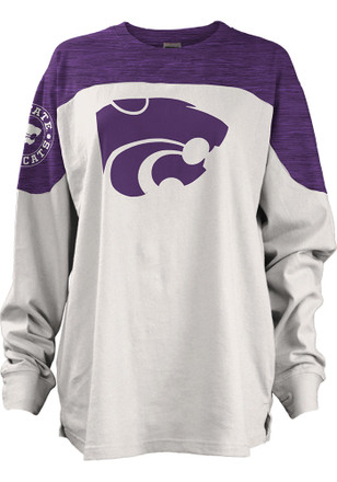 K-State Wildcats Womens Cannondale Purple LS Tee