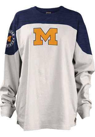 Michigan Wolverines Womens Cannondale Navy Blue LS Tee