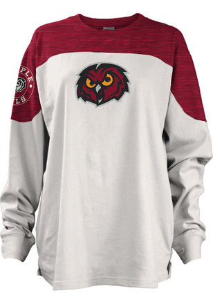 Temple Owls Womens Cannondale Cardinal LS Tee