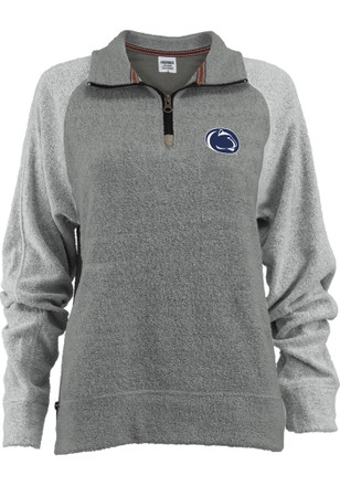 Penn State Nittany Lions Womens Elk Park Grey 1/4 Zip Pullover