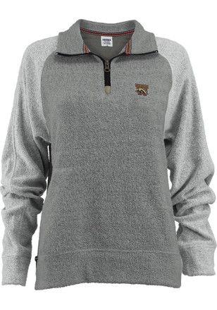 Western Michigan Broncos Womens Elk Park Grey 1/4 Zip Pullover