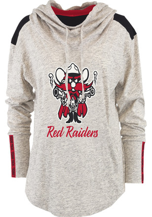 Texas Tech Red Raiders Womens Oatmeal Gibson Hoodie