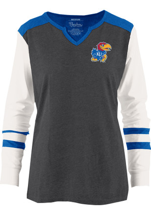 Kansas Jayhawks Womens Grey Mia T-Shirt