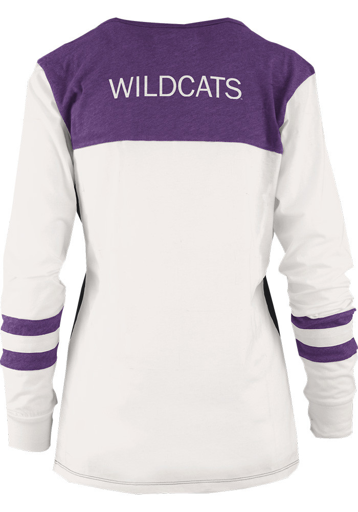 K-State Wildcats Womens Grey Mia Long Sleeve T-Shirt - Image 2