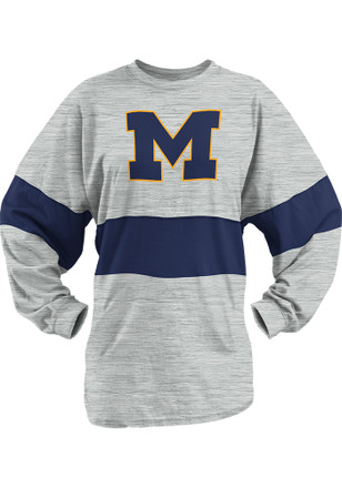 Michigan Wolverines Womens Morehead Oatmeal LS Tee