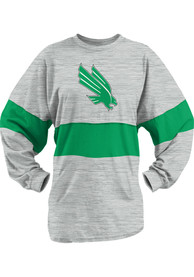 North Texas Mean Green Womens Morehead Oatmeal LS Tee
