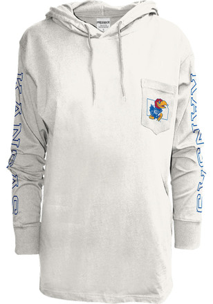 Kansas Jayhawks Womens Mystic White T-Shirt