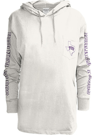 TCU Horned Frogs Womens Mystic White T-Shirt
