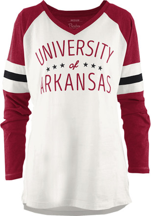 Arkansas Razorbacks Womens Cardinal Pomona T-Shirt