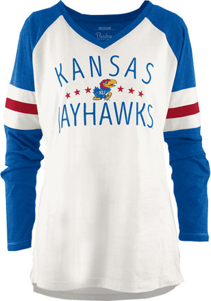 Kansas Jayhawks Womens Blue Pomona T-Shirt