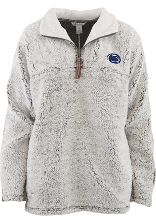 Penn State Nittany Lions Womens Puddle Grey 1/4 Zip Pullover