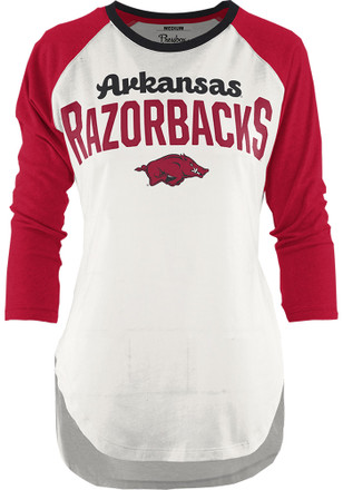 Arkansas Razorbacks Womens Quin Cardinal T-Shirt