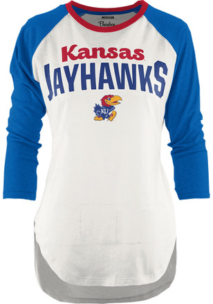 Kansas Jayhawks Womens Quin Blue T-Shirt