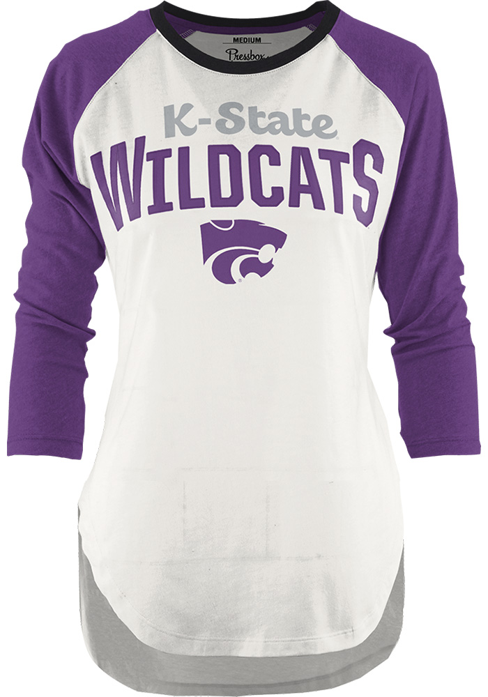 K-State Wildcats Womens Purple Quin Long Sleeve Crew T-Shirt - Image 1