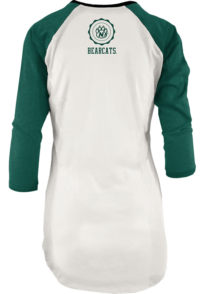 Northwest Missouri State Bearcats Womens Green Quin Long Sleeve Crew T-Shirt - Image 2