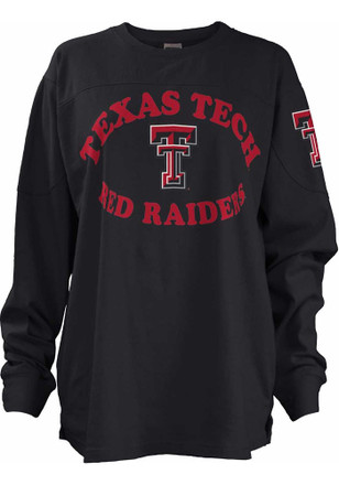 Texas Tech Red Raiders Womens Midway Black LS Tee