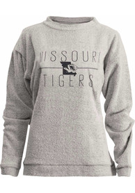 Missouri Tigers Womens Comfy Terry Oatmeal Crew Sweatshirt