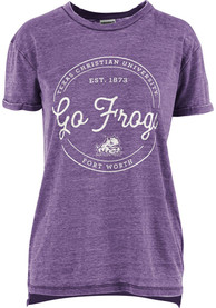 premium selection 3096e 97477 TCU Horned Frogs Womens Purple Ella Seal T-Shirt