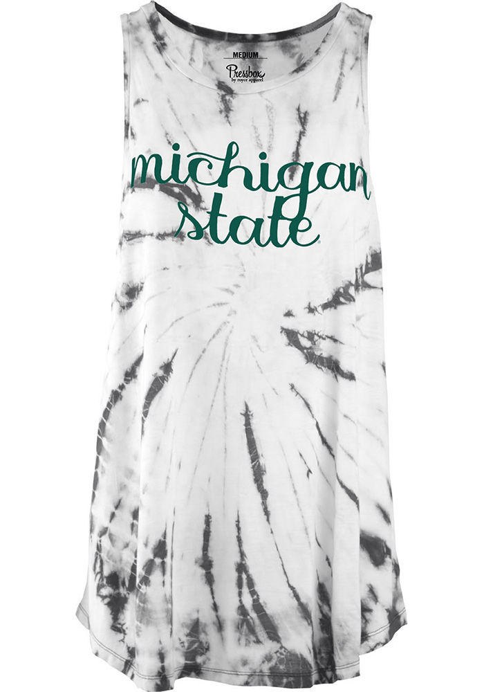 Michigan State Spartans Womens White Blaire Tank Top - Image 1