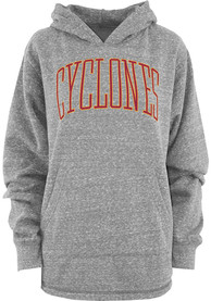 Iowa State Cyclones Womens Grey Tri-Knobi Bell Lap Fleece Hoodie