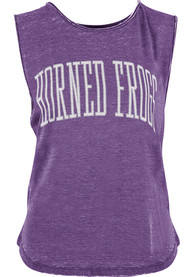 TCU Horned Frogs Womens Purple Bell Lap Vintage Wash Tank Top