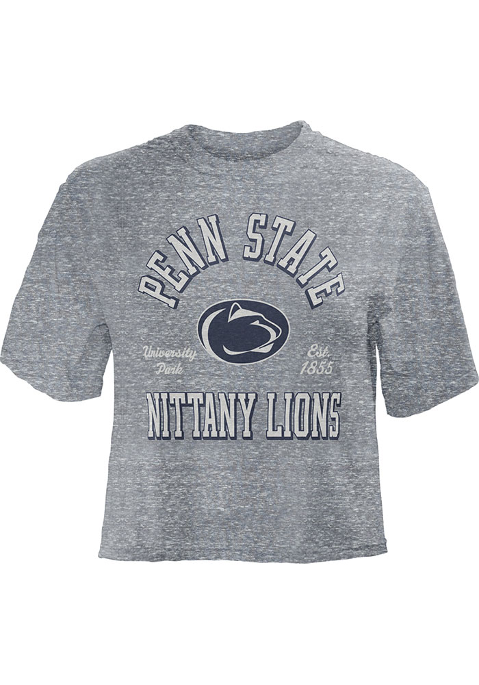b7a9c4dd Penn State Nittany Lions Womens Grey Bishop Crop Crew Neck Short Sleeve T- Shirt -