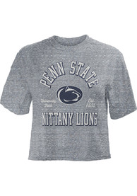 Penn State Nittany Lions Womens Bishop Crop Crew Neck T-Shirt - Grey