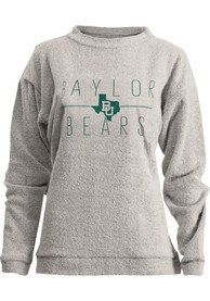 Baylor Bears Womens Comfy Terry State Crew Sweatshirt - Oatmeal