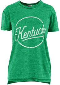 Kentucky Kelly Green Women's Roxy Script Short Sleeve T Shirt