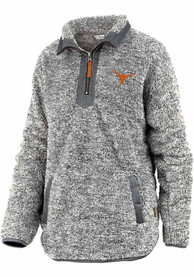 Texas Longhorns Womens Mammoth 1/4 Zip Pullover - Charcoal